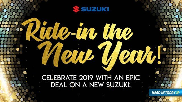 Suzuki - Ride in the New Year - Motorcycles and Scooters